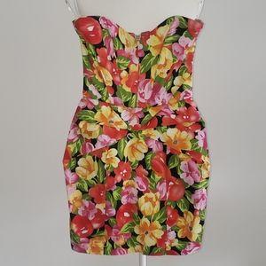 Ark & Co. Floral Strapless Dress
